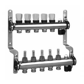 Meibes Коллектор из нержавеющей стали для систем напольного отопления с расходомерами