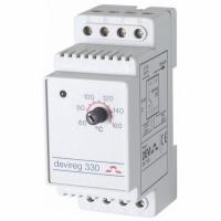 140F1072 | Терморегулятор Д-330, +5°C-+45°C с датч. на проводе. Установка на шину DIN.