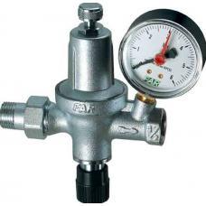 Хромированный автоматический редуктор давления НР-ВР с манометром (для системы отопления) | FA 2110 12