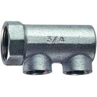 FK 3150 34   Хромированный концевой коллектор (ВР) с 2 отводами (ВР)