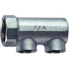 FK 3150 34 | Хромированный концевой коллектор (ВР) с 2 отводами (ВР)
