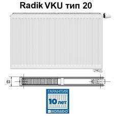 Стальной панельный радиатор Korado Radik VKU 20-5180
