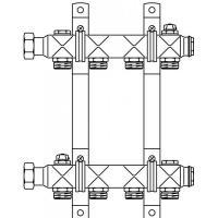 """Комплект гребенок Oventrop (Овентроп) """"Multidis SH"""" из инстр. стали   1407054"""